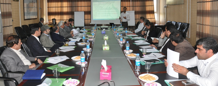 Working meeting on Smart Waters Project in Afghanistan