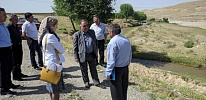 The first meetings of the Smart Waters project on the Tajik side of the Isfana river